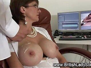 Amazing blowjob by stockings mature slut