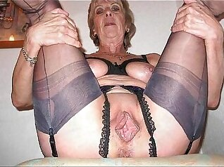 Blonde granny is fucked by old mans friend