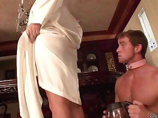 Cuckolding Mistress Aiden Licks Clientess Ass