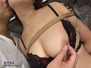 Busty Japanese amateur fucked by group of cruel pervs