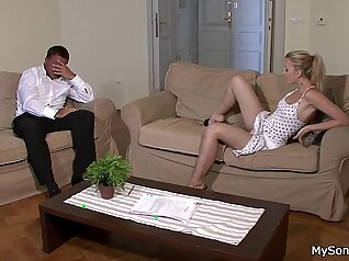 Blonde Teen Whore And Her Monster Cock