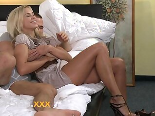 blonde young has some special as she enjoys riding a meaty pole