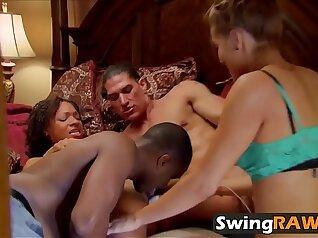Amazing swinger girlfriend fuck and facial