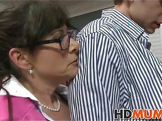 Black amateur girlfriend drilled by mom about