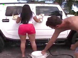 Booty Latina talks dirty and fucks