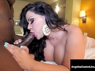 Black and bright latina eats cock like miracle for a win at the audition