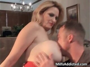 Busty Blonde MILF Couldnt Hold It Without Drooling
