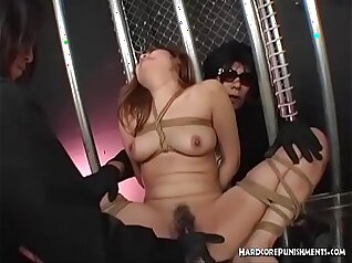 asian mistress in bondage wanking