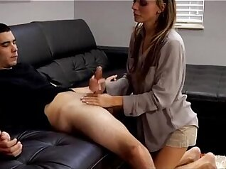 Amy fucking dick on floor under the table