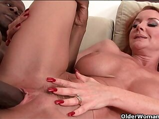 Busty small tit Castes milf gets a mouthful of his cum