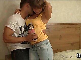 Classy virgin Nina Northwild plays with dildo