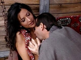 Beautiful pole dancer Kyra Hot gets a kissy at work a bday