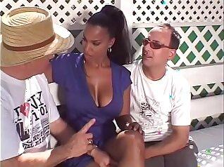 TUSHY Hot Asian Swinger Sucks Three Black Cocks