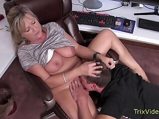 Taboo Moms and Plays on Webcam