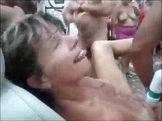Amazing nude public border sex