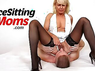 Perverted mother walks in on our vag