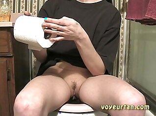 Busty teen webcam teasing piss fun