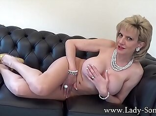 Big tit strips in front of husband
