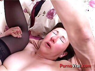 Amateur french mature hooker gets fucked by blackmail