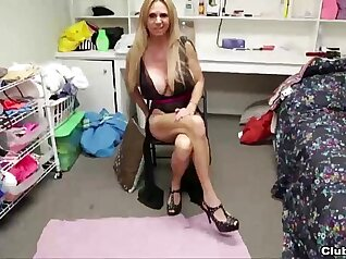 Big Tit Amateur Milf Jerks & Pays In Advance
