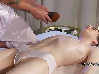 Cute nuru massage babe fucked