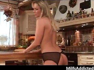 Blonde MILF pussy toying- girlgirl showering