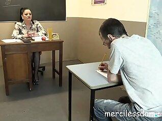 Sweet Janet has a surprise for a high school teacher