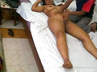 Indian Wife Masturbates at Massage