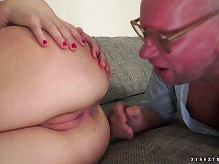 Rikshi anally drilled by grandpa
