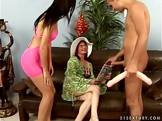 Brunette Granny has Love Set For Young Couple