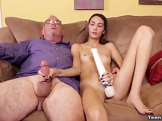 Step dad jerking Jeremy off with his final uncensored video